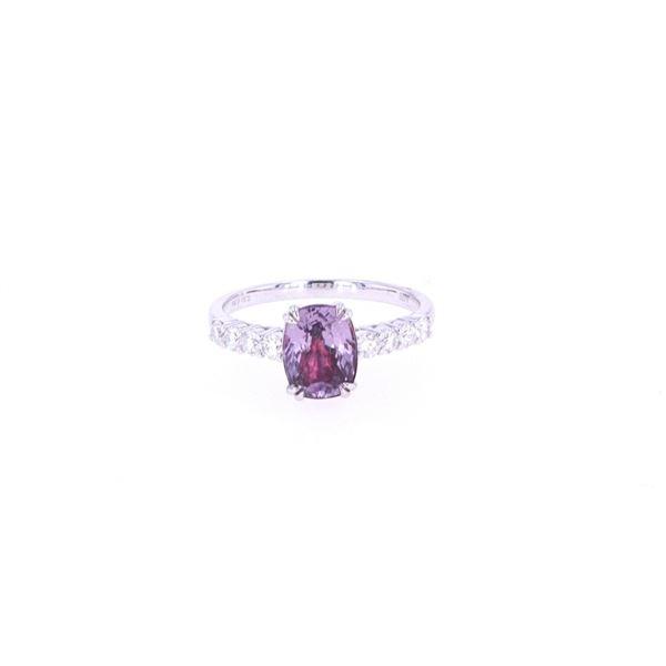 GIA Certified Unheated Montana Sapphire 18k Ring