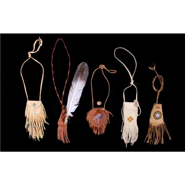 Collection of Native American Beaded Medicine Bags