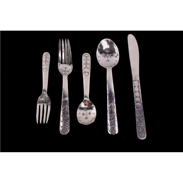 Armand American Horse Silver Formal Placement Set