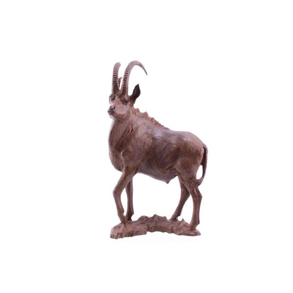 South African Hand Carved Leadwood Sable Buck