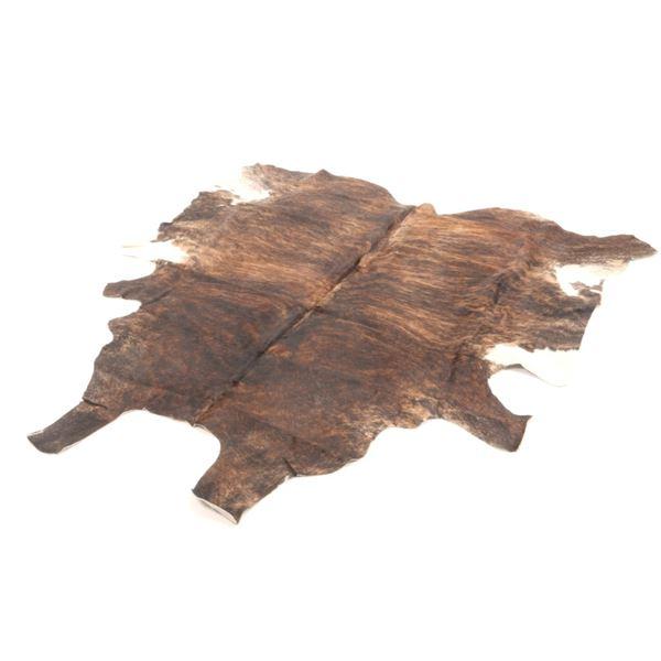 Dark Brown Brindle Tiger Striped Premium Cowhide