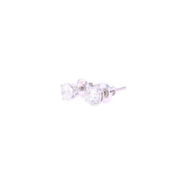 Brand New Diamond Stud 14K White Gold Earrings