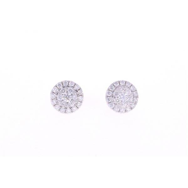 Brand New Diamond Cluster & 14k Gold Earrings