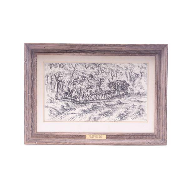R.H. Hall (1895-1970) Framed Ink & Pen c. 1935
