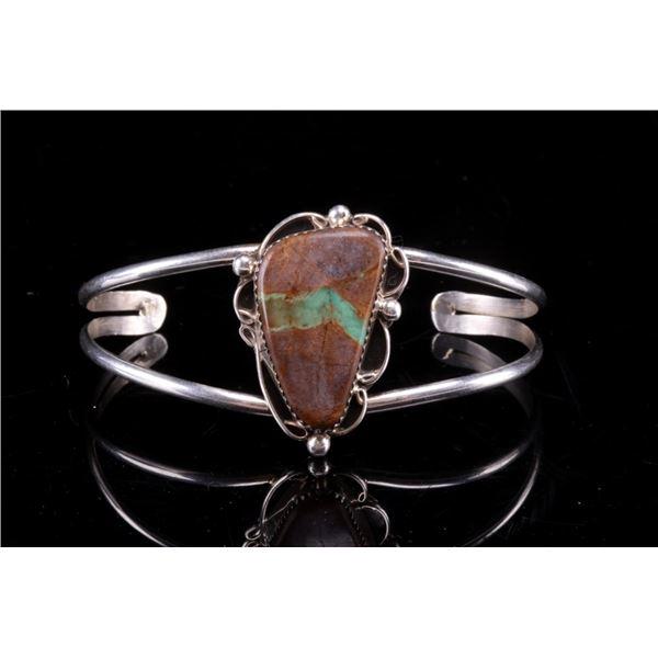 Navajo Bernadine Begay Silver & Turquoise Bracelet