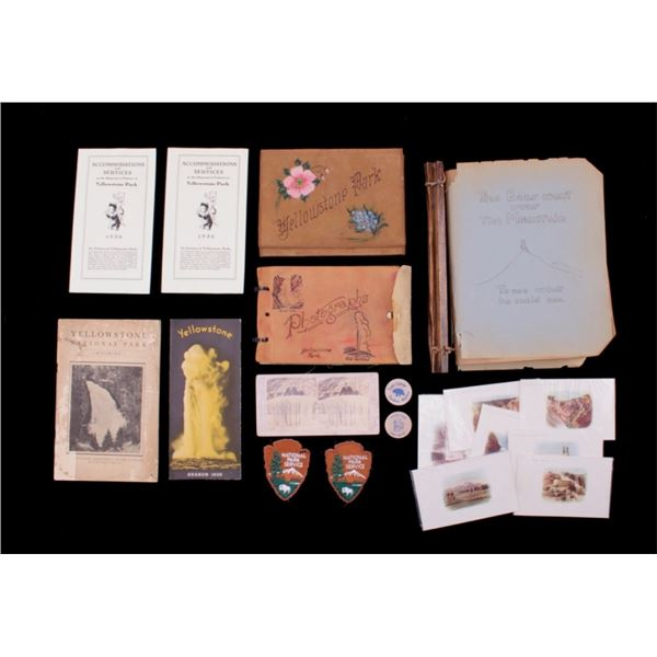 Collection of Yellowstone Park Memorabilia