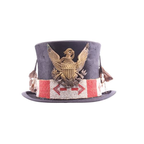 Northern Plains Indians Beaded Beaver Top Hat