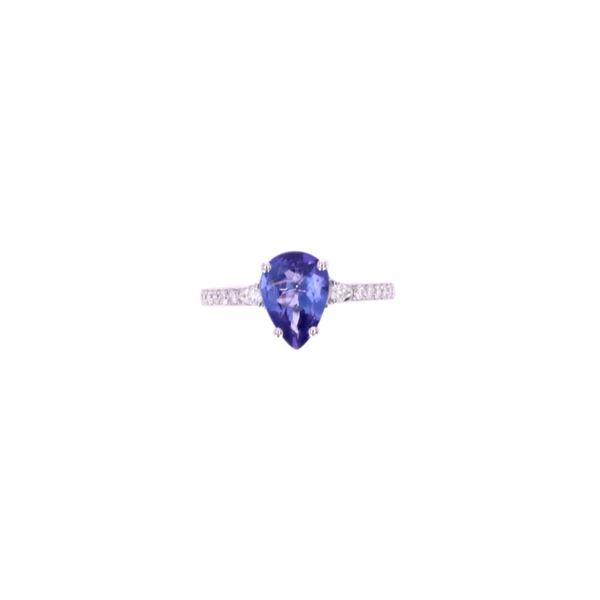 1.78 ct. Tanzanite Diamond & 14k White Gold Ring