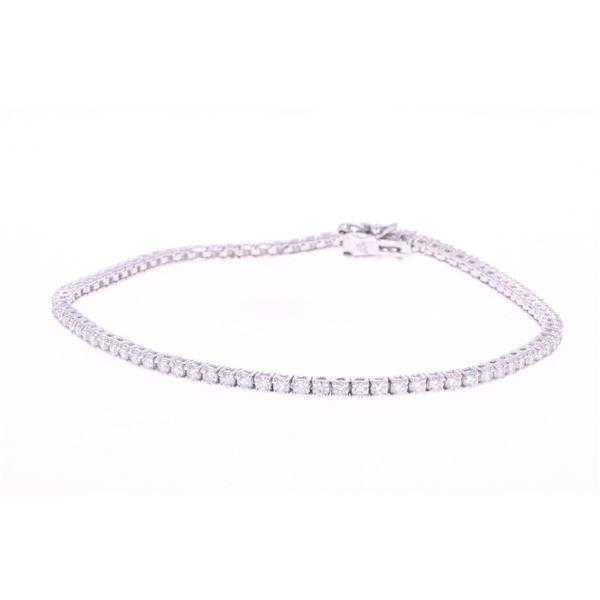 Outstanding Diamond 14k Gold Tennis Bracelet