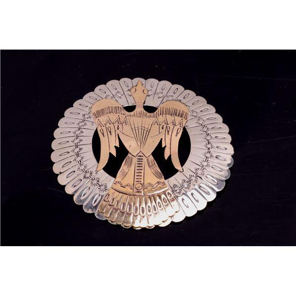 Armand American Horse Silver/Brass Thunderbird Pin