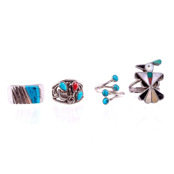 Taxco, Mexico & Navajo Silver & Turquoise Rings