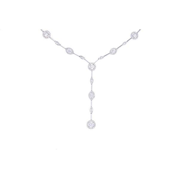Opulent Brilliant Diamond & 18k Gold Necklace