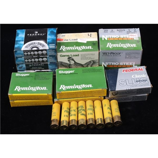 Collection of 20 Gauge Remington & Federal Ammo