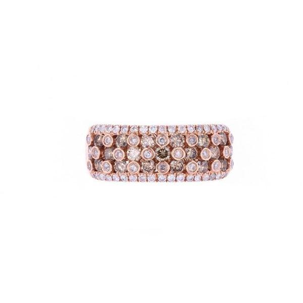 Vintage Brown Diamond 14k Rose Gold Ring
