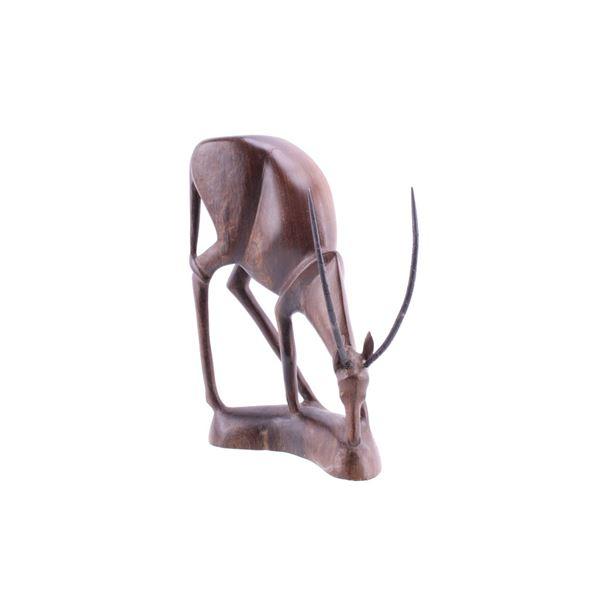 South African Leadwood Hand Carved Gemsbok