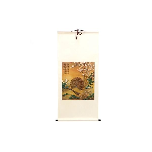 Chinese Rice Paper On Silk Scroll Wall  Art