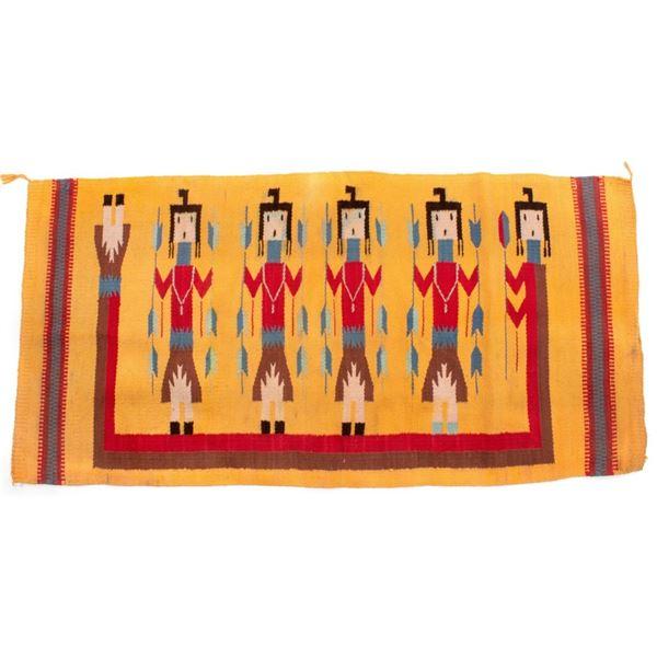 Navajo Yei Be Chei Polychrome Wool Rug c. 1950's