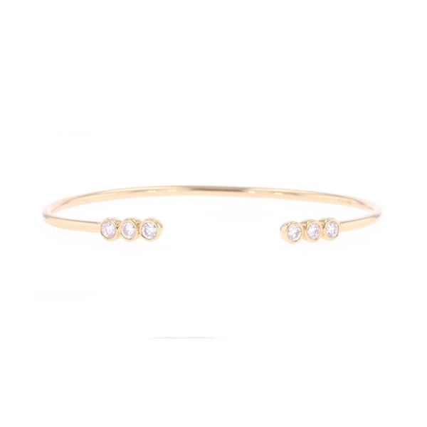 Bangle Brilliant Diamond & 18k Gold Bracelet