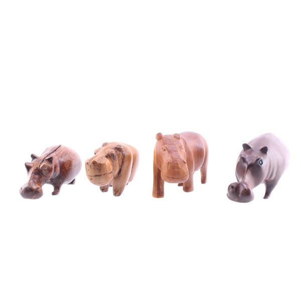 South African Leadwood Hippopotamus Collection