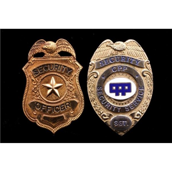 CCP Security Sergeant & Security Officer Badges