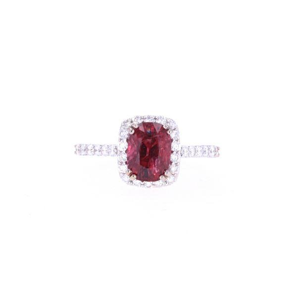 Vibrant 2.04ct Spinel & VS2 Diamond 18k Gold Ring