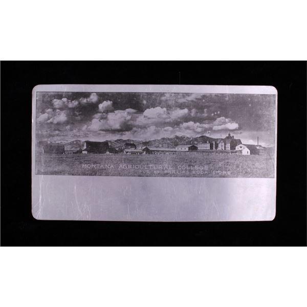 Tin-Type Photograph Aluminum Postcard Montana