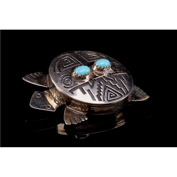 Armand American Horse Silver & Turquoise Turtle