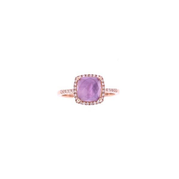 Opulent Amethyst Diamond & 14k Rose Gold Ring