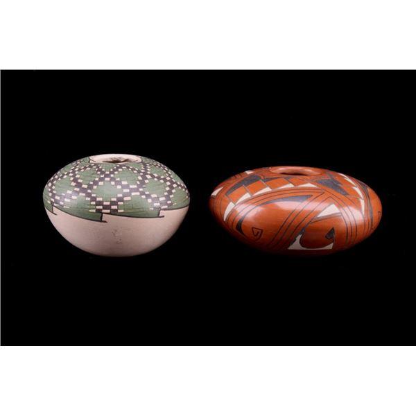 Mata Ortiz Mogollon Polychrome Seed Pot Vessels