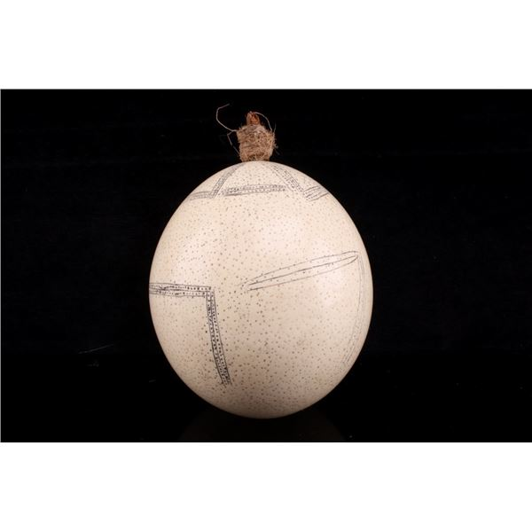 Original South African, San Etched Ostrich Egg