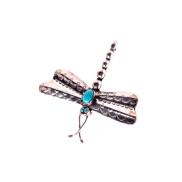 Armand American Horse Silver & Turquoise Dragonfly