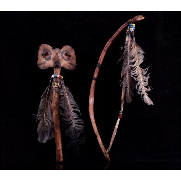 Northern Plains Indians Ceremonial Dance Wand Pair