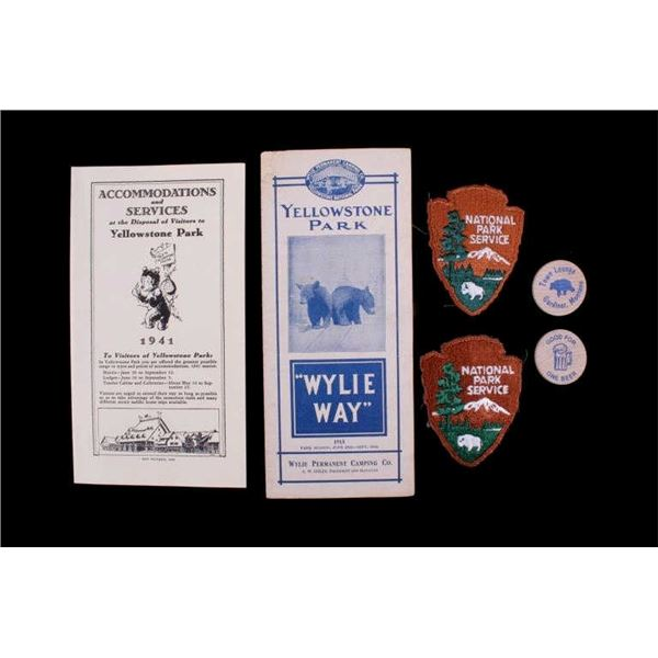Yellowstone Park Tourist Pamphlets & Memorabilia