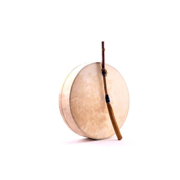 Northern Plains Indians Elk Rawhide Drum & Beater