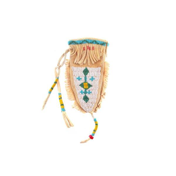 Lakota Sioux Beaded Belt Pouch circa 1920's-