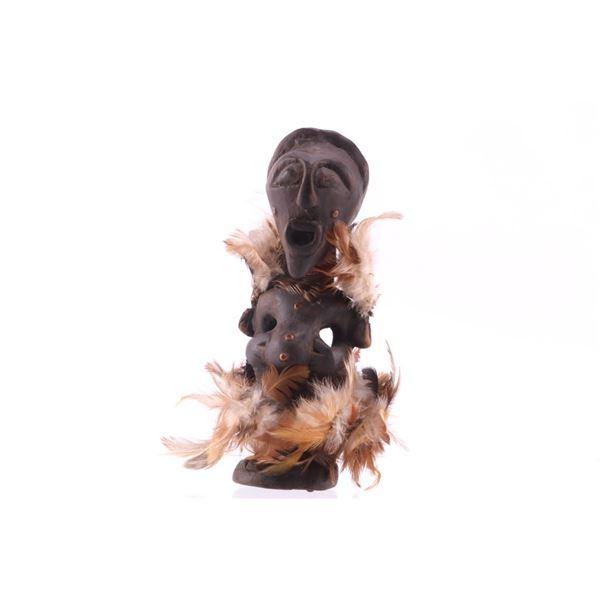 Bena Lulua Zaire, Africa Hand Carved Man Fetish
