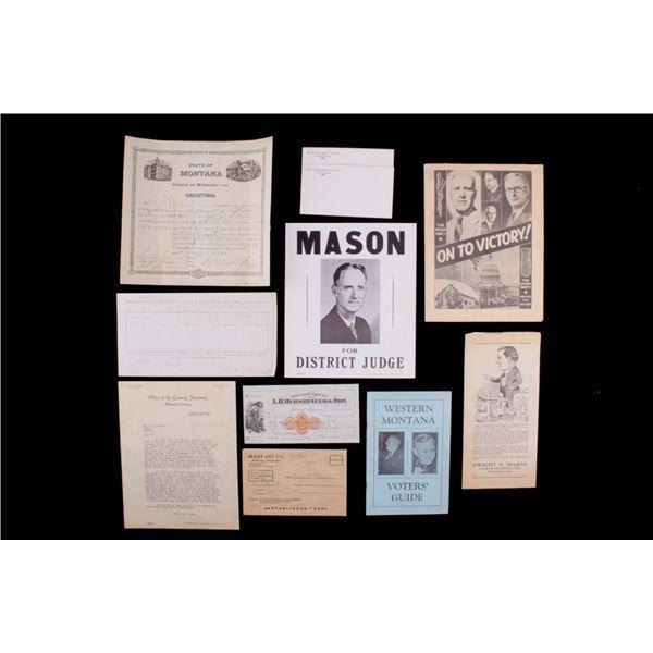 Dwight N. Mason & Old Montana Memorabilia