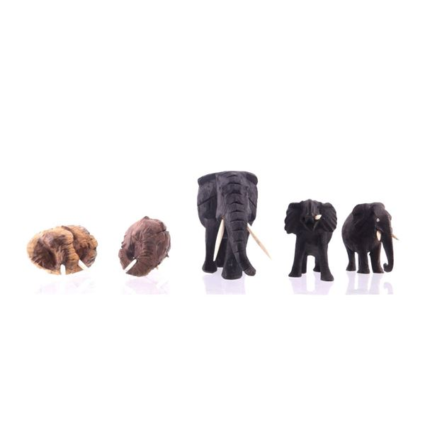 South African Leadwood Elephant Collection