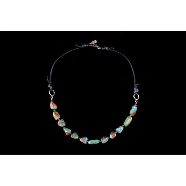 Navajo Sterling Silver & Cripple Creek Necklace