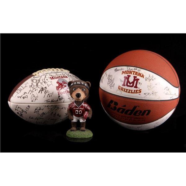 UM Basketball & Football Signed Monte Bobble Head