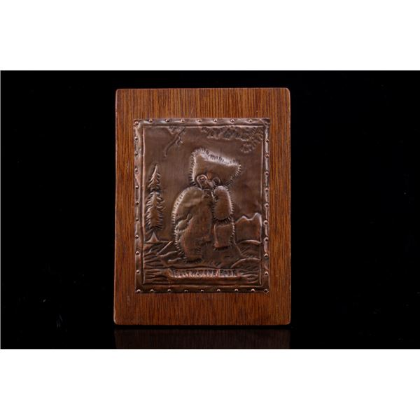 Embossed Wooden Yellowstone Park Sign