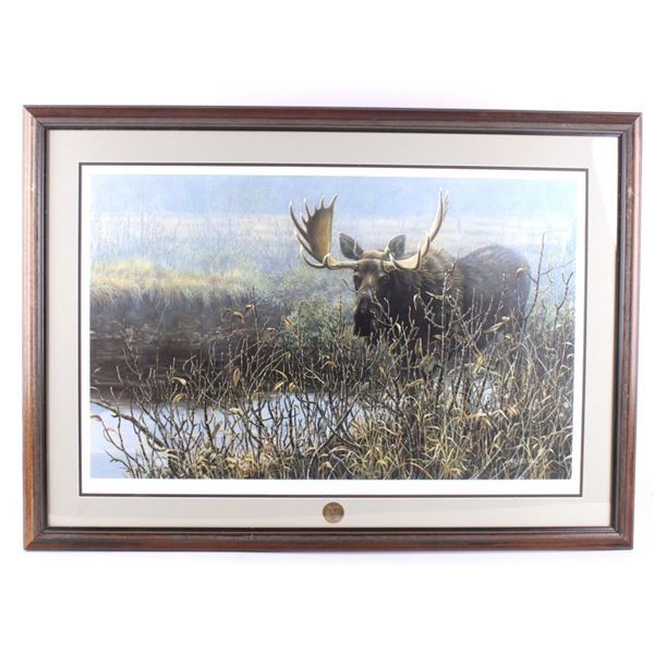 """1992 """"Moose Poised Creekside"""" by Ray """"Paco"""" Young"""