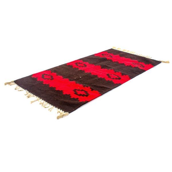 Zapotec Stepped Banda Runner Style Wool Rug