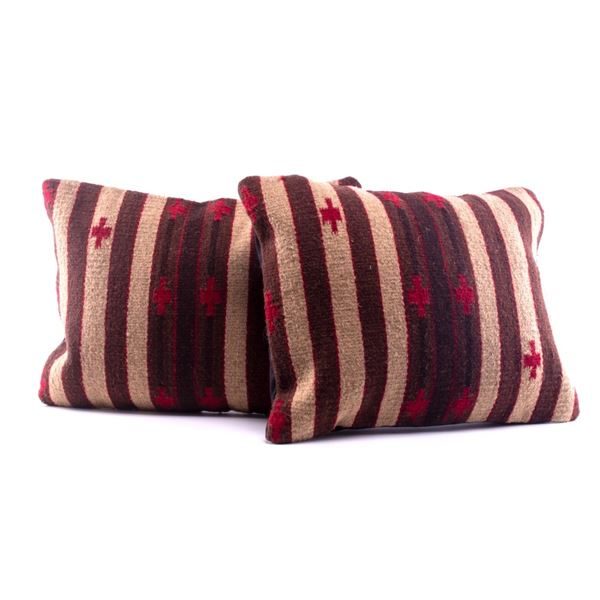 Tierra Crosses Wool Set of Two Pillows Luis Lazo