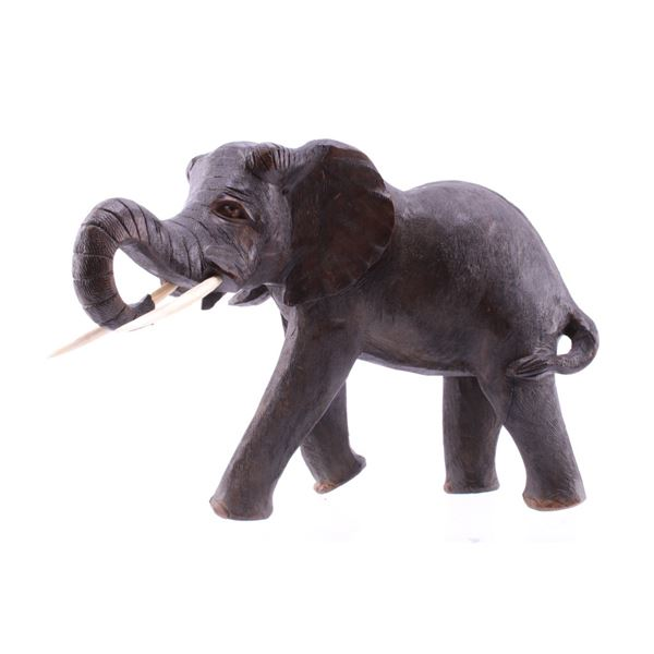 South African Leadwood Carved African Elephant