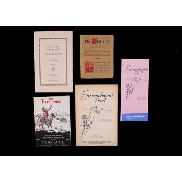 Custer Battlefield Booklets 1905-1969