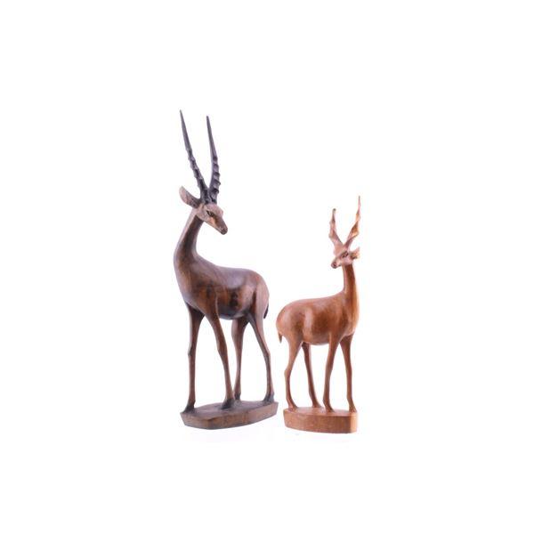 Kenya, East Africa Hand Carved Antelope Statues