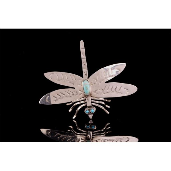 Armand American Horse Turquoise Dragonfly Pin