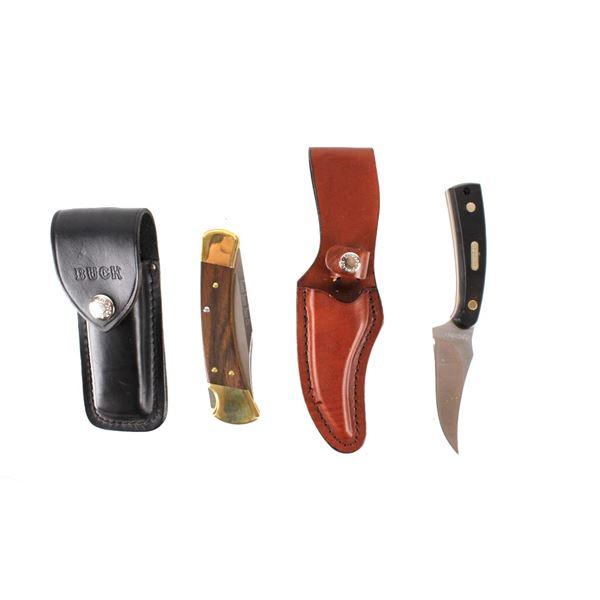 """Buck 110 Folding Knife & Schrade """"Oldtimer"""" Knife"""