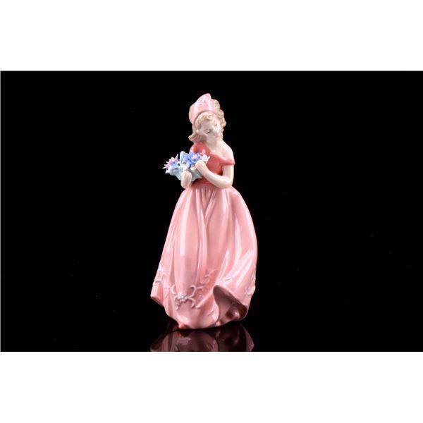 Sorelle Hand Painted Maiden Porcelain Figurine